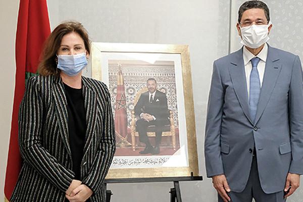 La princesse Lalla Zineb et le président du ministère public Mohamed Abdennabaoui