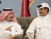 Le roi Salmane et cheikh Tamim