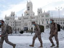 Espagne : l'armée mobilisée pour dégager la neige à Madrid