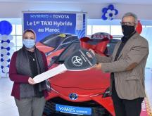Toyota Maroc livre un taxi hybride, une première nationale