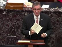Le chef des procureurs démocrates, Jamie Raskin, le 10 février 2021 © AP