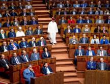 Le Parlement lors d'une réunion publique conjointe consacrée à la présentation du programme du gouvernement, à Rabat le 19 avril 2017 © AFP