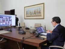 Un Conseil de gouvernement tenu en visioconférence sous la présidence du Chef du gouvernement Saad Dine El Otmani © DR