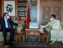 Le ministre des Affaires étrangères, Nasser Bourita, et son homologue serbe, Nicola Selakovic, lors de leur entretien en tête à tête à Rabat, le 5 mai 2021 © Ministère des Affaires étrangères