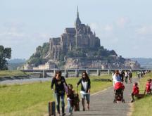 Vue du Mont-Saint-Michel, l'un des sites touristiques les plus visités de France © Ludovic Marin, AFP