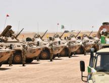 démonstrations de l'armée algérienne près de la frontière avec le Maroc