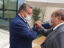 Aziz Akhannouch en compagnie du leader de l'USFP, Driss Lachguer © DR