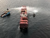 Canada : incendie maîtrisé sur un cargo crachant des gaz toxiques