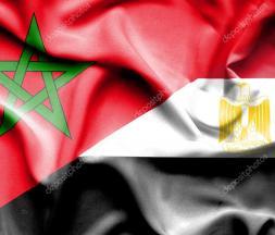 Drapeau égyptien et marocain