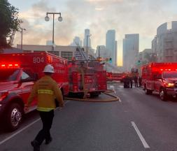 Explosion in downtown L.A. injures multiple firefighters