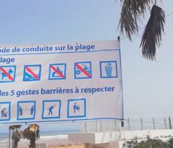À la plage, les gestes barrières doivent être respectés