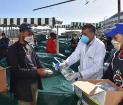caravane de sensibilisation au coronavirus à Casablanca