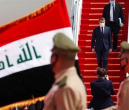 Emmanuel Macron effectue sa première visite en Irak