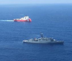 Méditerranée entre la Grèce et la Turquie