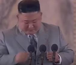 Kim Jong-un en larmes