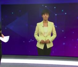 un clone virtuel remplace une présentatrice sur le plateau