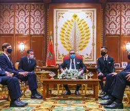 Le Roi reçoit les délégations américaine et israélienne