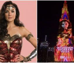 Wonder Woman illumine Burj Khalifa à Dubaï