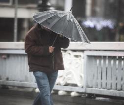Pluie et rafales
