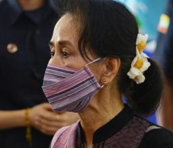 Aung San Suu Kyi le 27 janvier © AFP