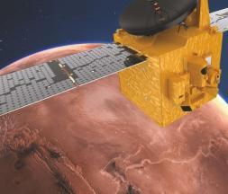 La sonde Al-Amal / Hope abordant la planète Mars © Mohammed bin Rashid Space Center / Emirates Mars Mission