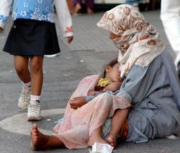 Les deux tiers des enfants exploités dans la mendicité ont moins de 4 ans © DR