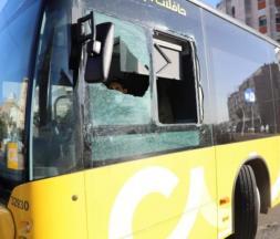 L'un des bus vandalisés à Casablanca