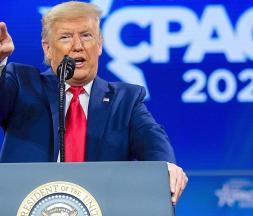 Donald Trump lors de la précédente conférence CPAC, le 29 février 2020 © AFP