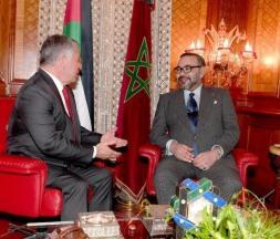 Le roi Mohammed VI et le roi Abdallah II de Jordanie