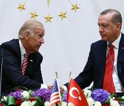 Le président turc Recep Tayyip Erdogan et son homologue américain Joe Biden, en 2016, avant l'élection de ce dernier © Kayhan Ozer/AP/SIPA