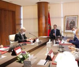 Le chef du gouvernement, Saad Dine El Otmani présentant le Plan gouvernemental © la MAP