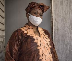 Mambia Morelline, présidente du Collectif féminin des femmes migrantes au Maroc © AFP