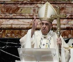 Le pape François a prononcé sa traditionnelle homélie de Pâques depuis la basilique Saint-Pierre © AFP