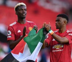 Paul Pogba et Amad Diallo affichent leur soutien pour la Palestine © DR