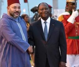 Alassane Ouattara, président de la Côte d'ivoire en compagnie du roi Mohammed VI © DR