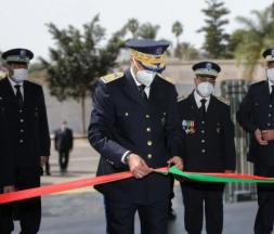 Abdellatif Hammouchi, directeur général de la Direction générale de la Sûreté nationale (DGSN), inaugure du nouveau siège de la Brigade nationale de la police judiciaire (BNPJ), le 16 mai 2021 © DR
