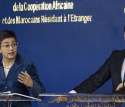 Nasser Bourita en compagnie d'Arancha Gonzalez Laya © DR