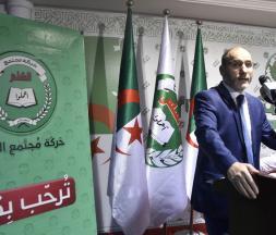 Abderrazak Makri, président du Mouvement de la société pour la paix (MSP), principal parti islamiste en Algérie, lors d'une conférence de presse à Alger, le 29 septembre 2019 © AFP