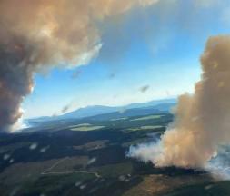 L'incendie Long Loch ravage la Colombie-Britannique, le 30 juin 2021. © AFP