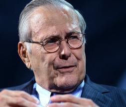 L'ancien secrétaire américain à la Défense Donald Rumsfeld, photographié le 20 septembre 2016 à New York. © Riccardo Savi,Getty Images/AFP