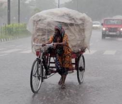 La ville de Bhubaneswar, la capitale de l'État d'Odisha, dans l'est de l'Inde, touchée par des pluies diluviennes, le 29 août 2021 © AFP