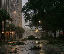 L'ouragan Ida a déferlé sur la Louisiane dimanche 29 août provoquant de nombreux dégâts, notamment à la Nouvelle-Orléans. © Brandon Bell, Getty Images via AFP