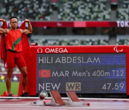Le Marocain Abdeslam Hili a offert jeudi au Royaume sa première médaille d'or aux Jeux paralympiques de Tokyo 2020 © DR