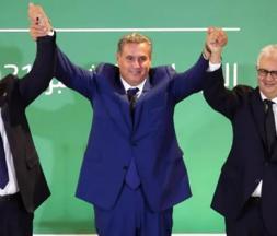 Abdellatif Ouahbi, Aziz Akhannouch et Nizar Baraka main dans la main © DR