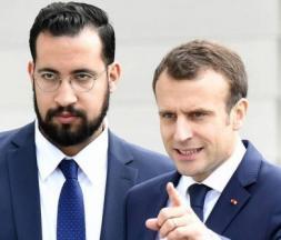 Alexandre Benalla, l'ancien chargé de mission de l'Élysée, et le président français Emmanuel Macron