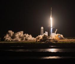 Le décollage de la fusée Falcon 9 de SpaceX du centre Kennedy à Cap Canaveral, en Floride, mercredi 15 septembre 2021. © Thom Baur, Reuters