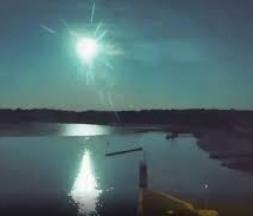 La météorite en Bretagne © Capture d'écran, DR