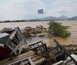 Grèce : de graves inondations à l'île d'Eubée