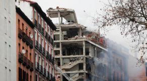 Les images de l'explosion due au gaz à Madrid