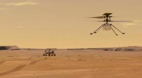 L'hélicoptère Ingenuity de la Nasa sur Mars © AFP
